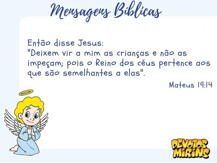 Resultado de imagem para mensagens biblicas para criança